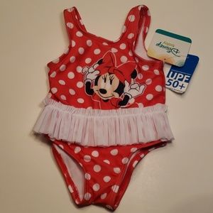 One piece Minnie Mouse swimsuit